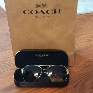 Coach sunglasses aviator style
